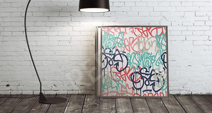Plakat malarstwo na murze