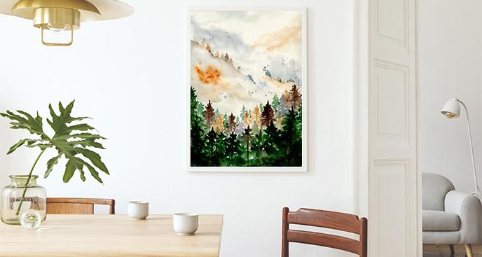 Plakat malowany akwarelą