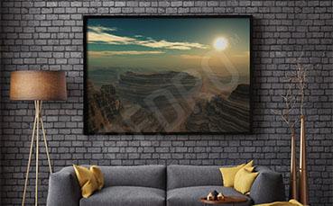 Plakat malowniczy krajobraz