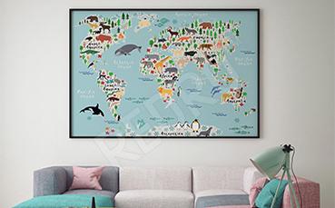 Plakat mapa dla dzieci
