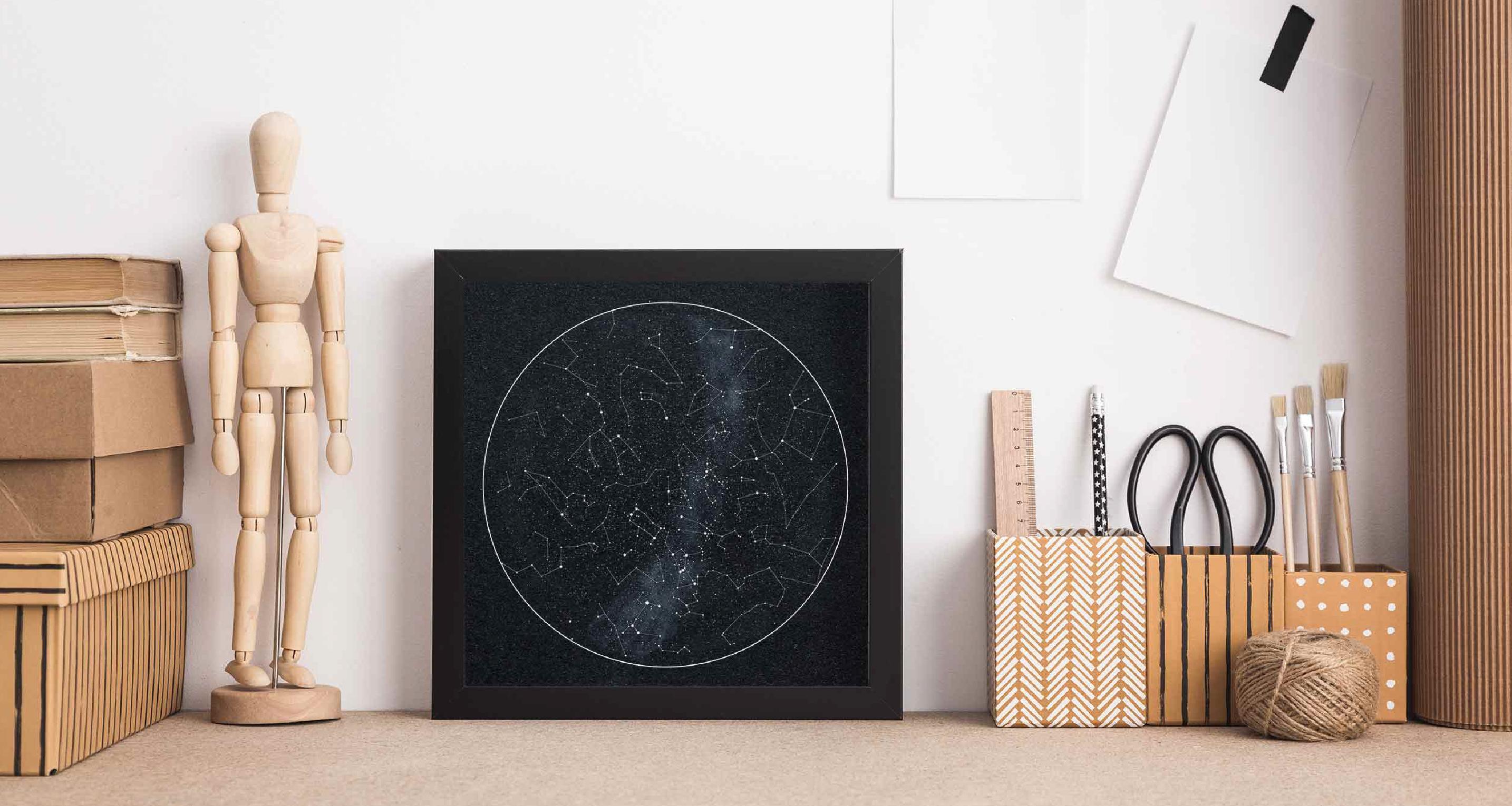 Plakat mapa nieba