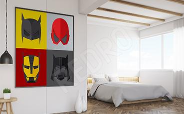 Plakat maski superbohaterów