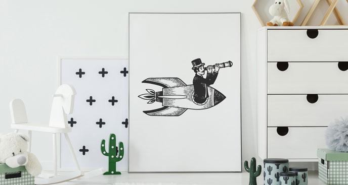 Plakat cyklista do salonu