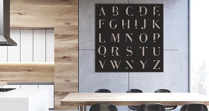 Plakat minimalistyczny alfabet