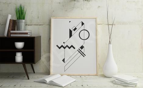 Plakat minimalistyczny czerń i biel