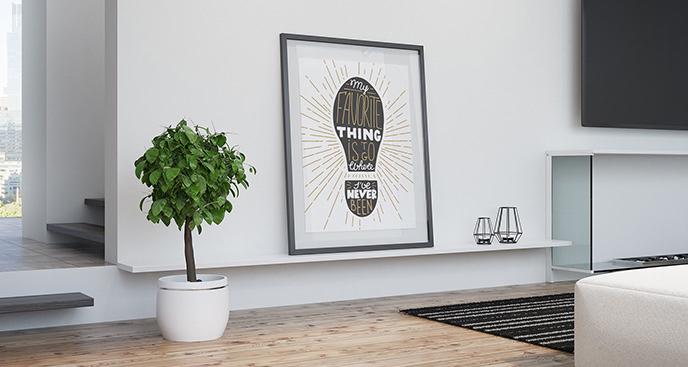 Plakat minimalistyczny do salonu
