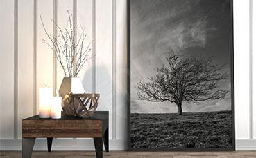 Plakat minimalistyczny krajobraz