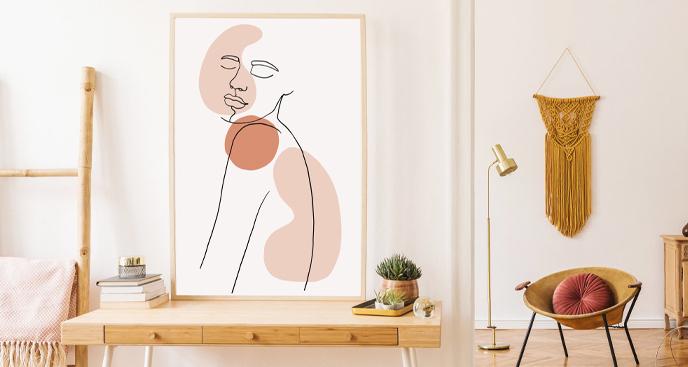 Plakat minimalistyczny portret