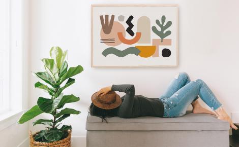 Plakat minimalizm do przedpokoju