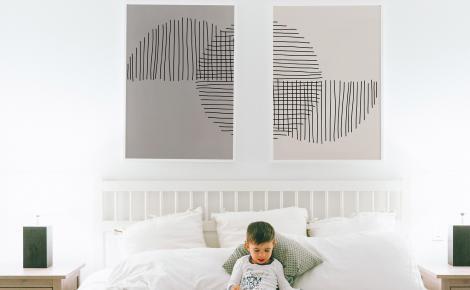 Plakat minimalizm do sypialni