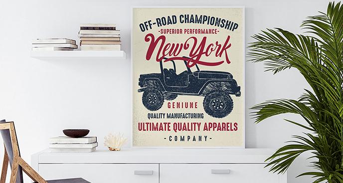 Plakat mistrzostwa off-road
