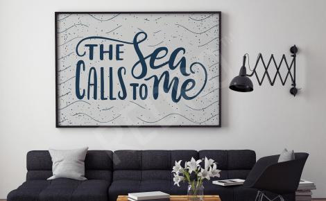 Plakat morze typografia