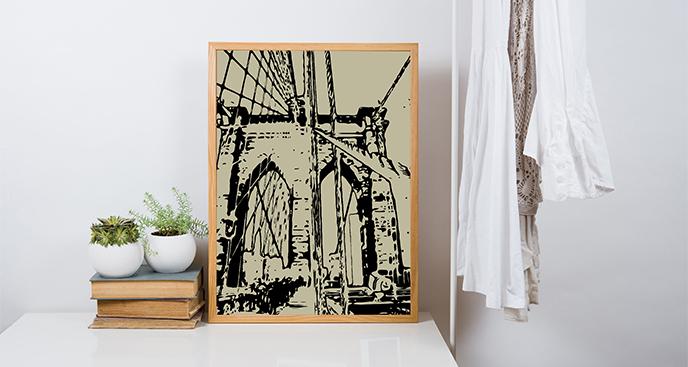 Plakat Most Brookliński: brama