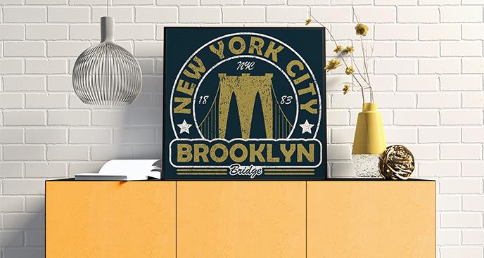 Plakat Most Brookliński vintage