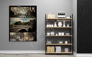 Plakat most w Amsterdamie