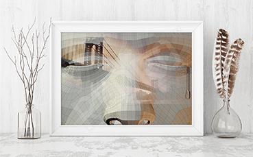 Plakat most w nowoczesnej interpretacji