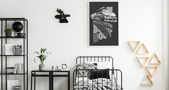 Plakat motoryzacyjny dla nastolatka