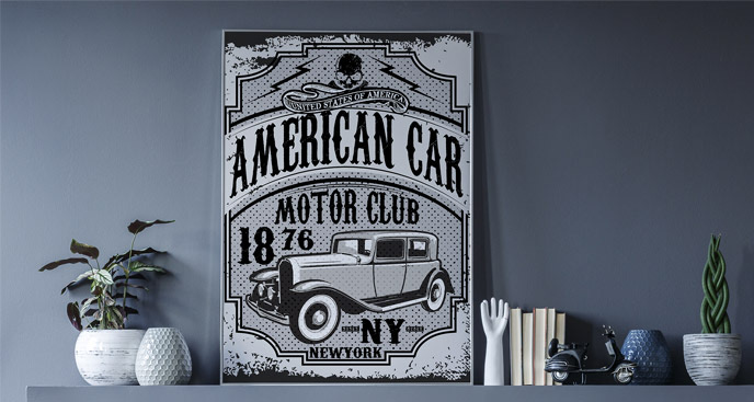 Plakat motoryzacyjny New York