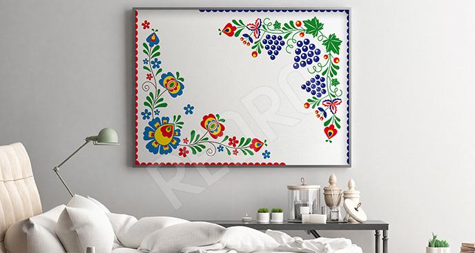 Plakat motyw folk minimalistyczny