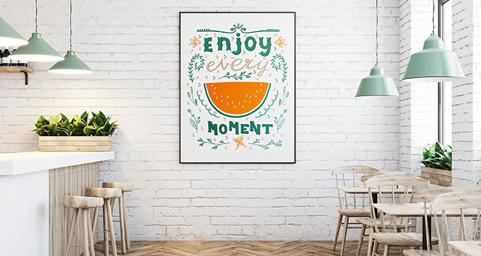 Plakat motywacyjny do restauracji