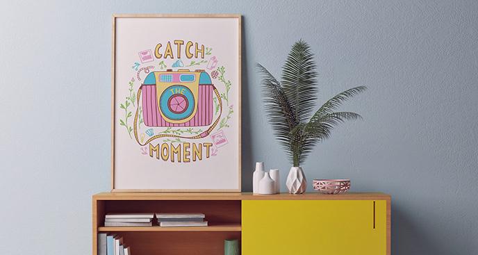 Plakat motywacyjny w stylu retro