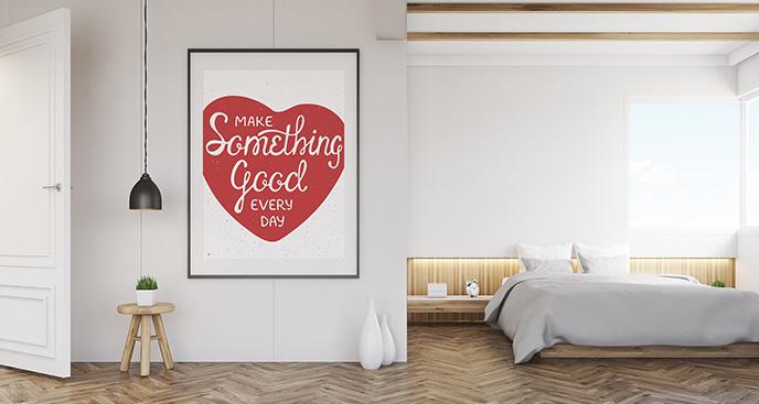 Plakat motywacyjny z sercem