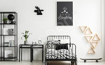 Plakat motywujący czarno-biały
