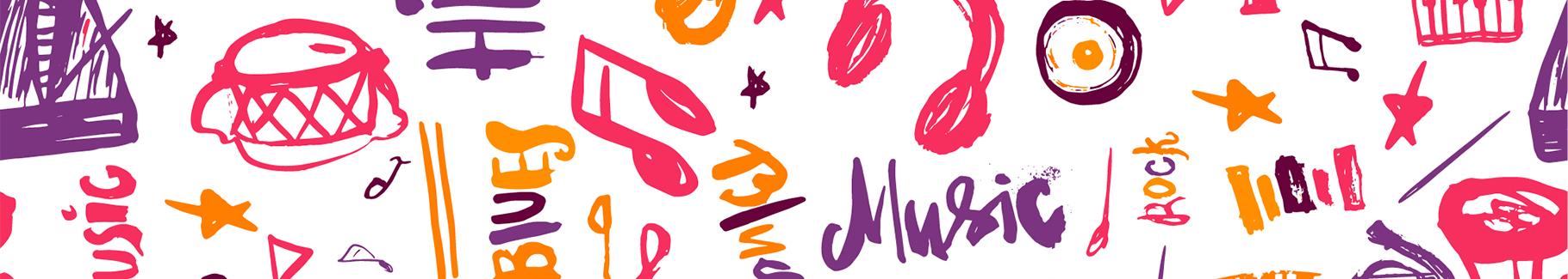 Plakat muzyczne symbole