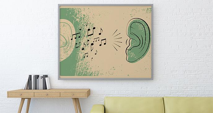 Plakat muzyczny vintage