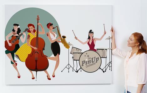 Plakat muzyczny z girlsbandem