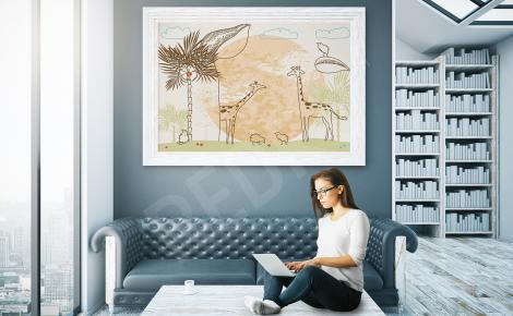 Plakat na ścianę żyrafy