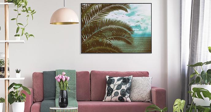 Plakat nadmorska palma