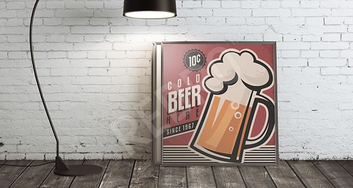 Plakat napój alkoholowy vintage