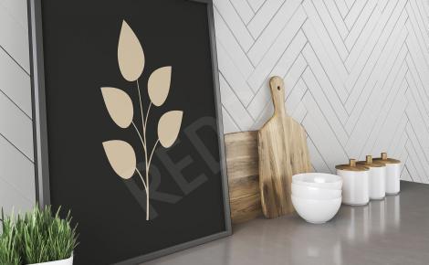 Plakat natura minimalistyczny