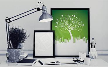 Plakat natura zieleń