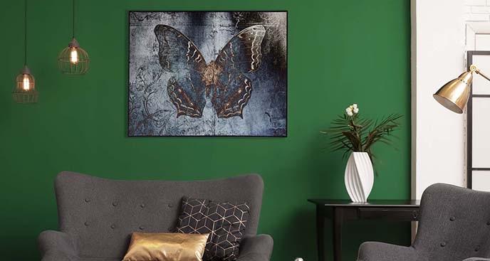 Plakat niebieski owad