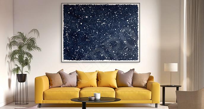 Plakat niebo z gwiazdami