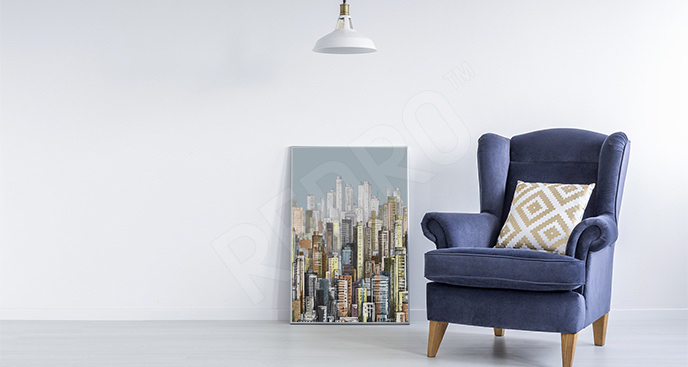 Plakat nowoczesne miasto