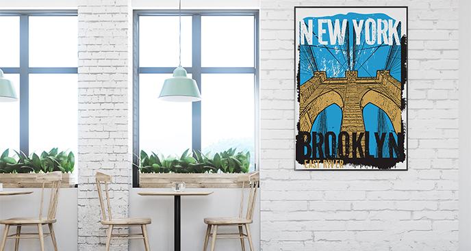 Plakat nowojorski motyw do kawiarni