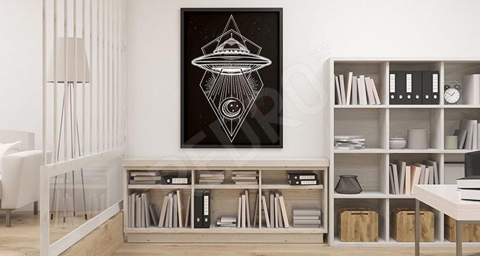 Plakat obiekt latający