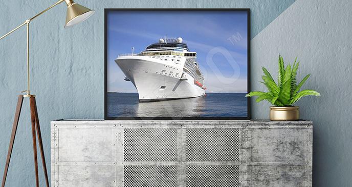 Plakat okręt pasażerski