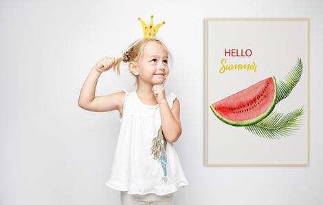 Plakat owoc egzotyczny