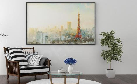 Plakat panorama Tokio