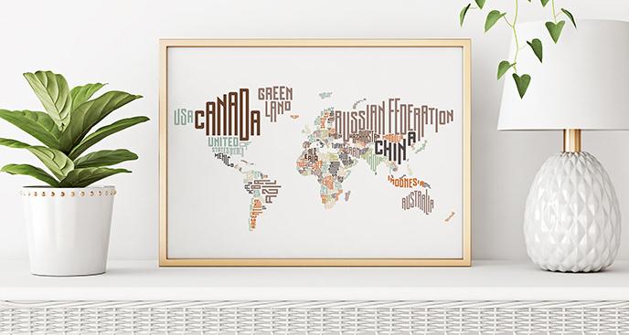 Plakat państwa świata