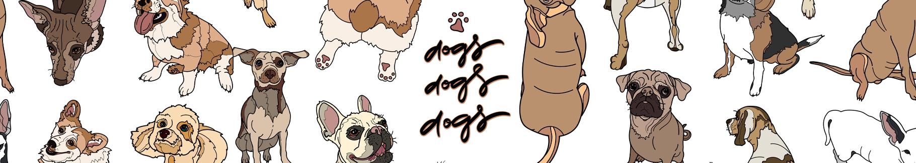 Plakat psy dla dzieci