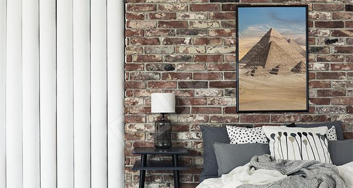 Plakat piramidy w Egipcie