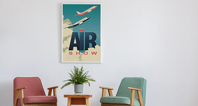 Plakat plakat lotniczy