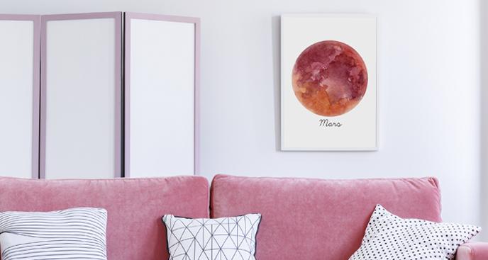 Plakat planety – Mars