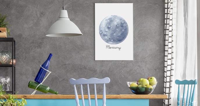 Plakat planety – Merkury