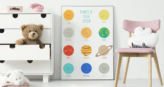 Plakat planety układu słonecznego